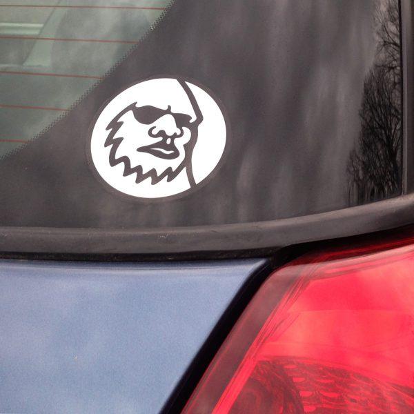 Yeti Head Logo Sticker on Car