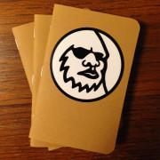 Yeti Sticker on Notepad