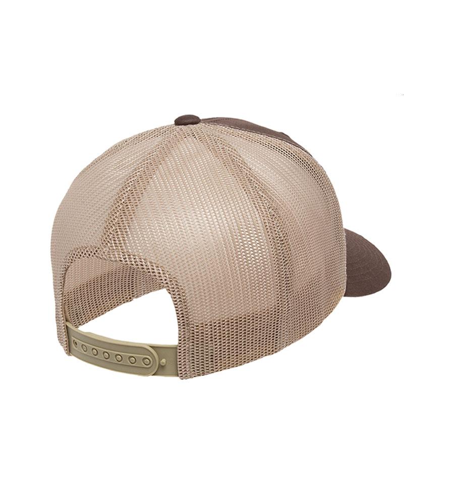Snapback Yeti Head Hat Back Angle View